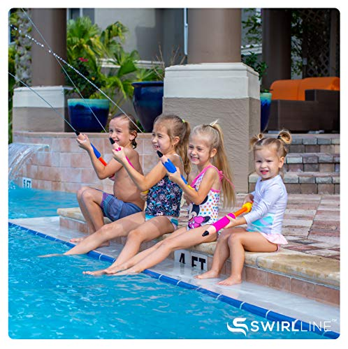 SWIRLLINE Water Blaster Toy 4 Pack – Water Soaker for Kids 13-19'' – Water Squirter for Summer Outdoor Party Pool Beach – Pencil Shape by SWIRLLINE (Image #3)