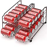 2 Pack - SimpleHouseware Stackable Front Loading Beverage Can Dispenser Rack, Bronze