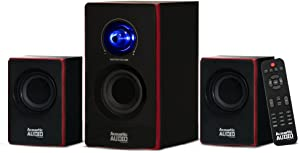 Acoustic Audio by Goldwood 2.1 Bluetooth Speaker System 2.1-Channel Home Theater Speaker System, Black (AA2103)