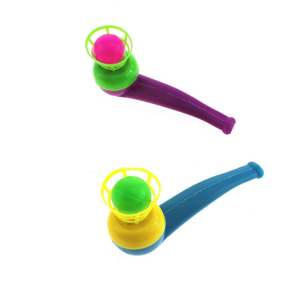 Xiton Tubo di soffiaggio a Sospensione pneumatica per Bambini con Pallina per Bambini (Colore Casuale) 2 Pezzi