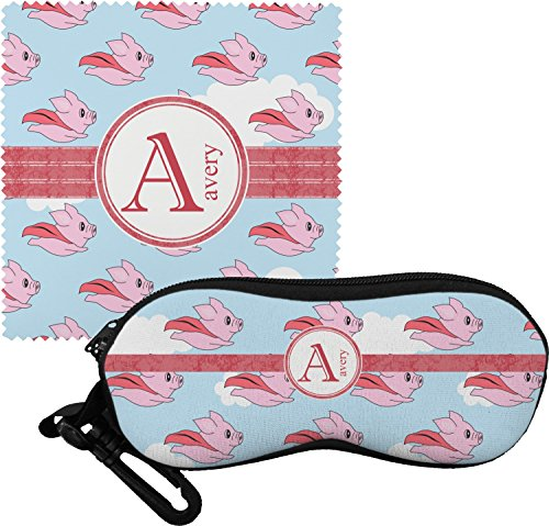 Flying Pigs Eyeglass Case & Cloth (Personalized)