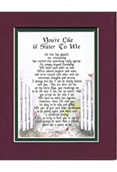 You're Like A Sister To Me, #150, A Gift Present Poem For A Friend. Friend's Birthday