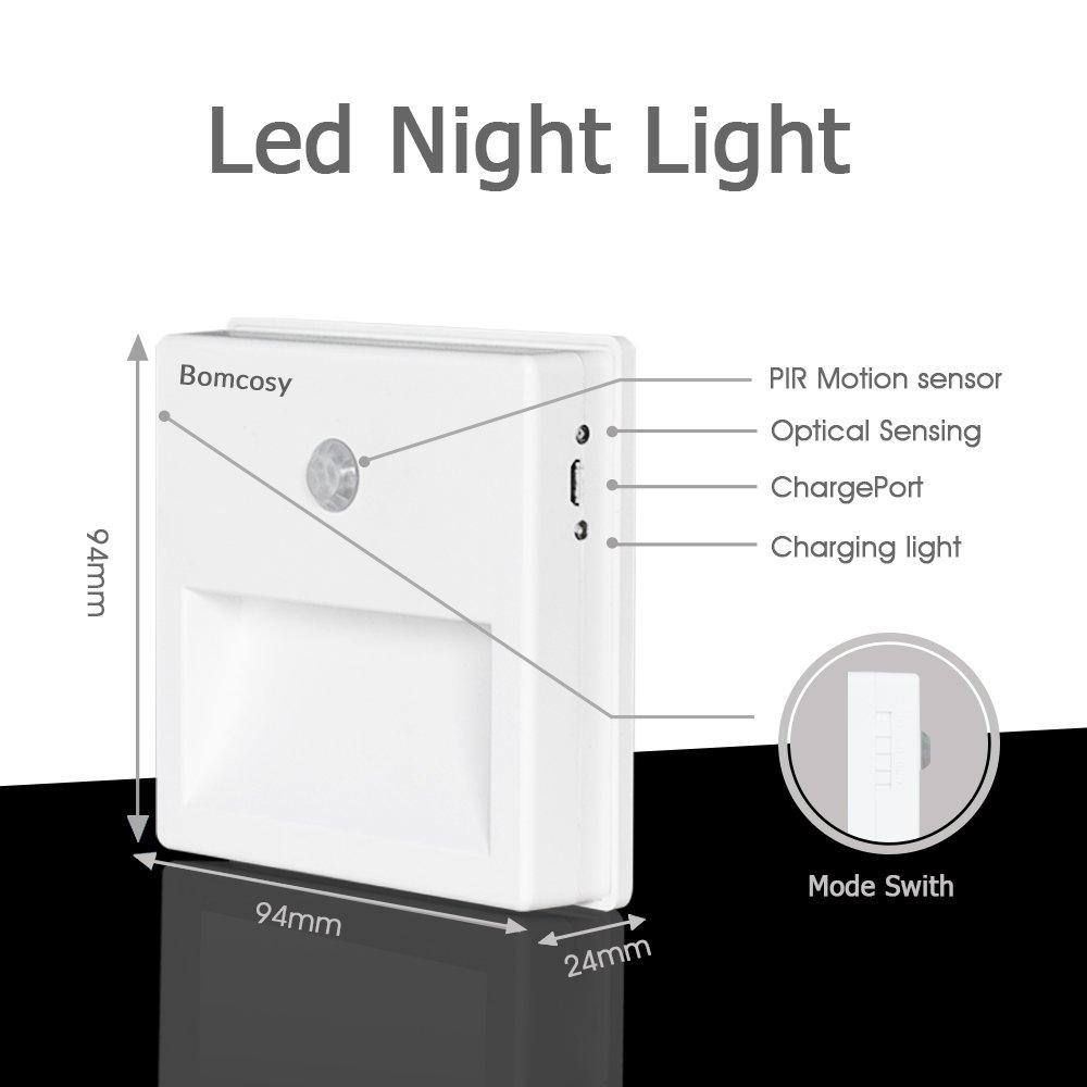 wiederaufladbares LED-Bewegungsmelder-Licht mit passiver Infrarot-Technologie, AUVON Nachtlicht