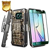 NageBee Galaxy S6 Edge Plus Case, Belt Clip Holster Heavy Duty Armor Shockproof Kickstand Rugged Combo Case for Samsung Galaxy S6 Edge Plus -Camo