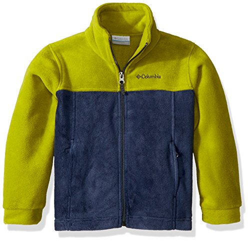 - Columbia Boys' Little Steens Mt II Fleece, Python Green/Collegiate Navy X-Small