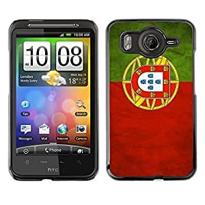 Shell-Star ( National Flag Series-Portugal ) Snap On Hard Protective Case For HTC Desire HD / Inspire 4G