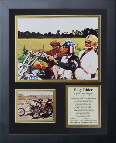 "Legenden Sterben Nie gerahmtes Foto Collage, 11 x 35,6 cm ""Easy Rider von Legends Never Die"