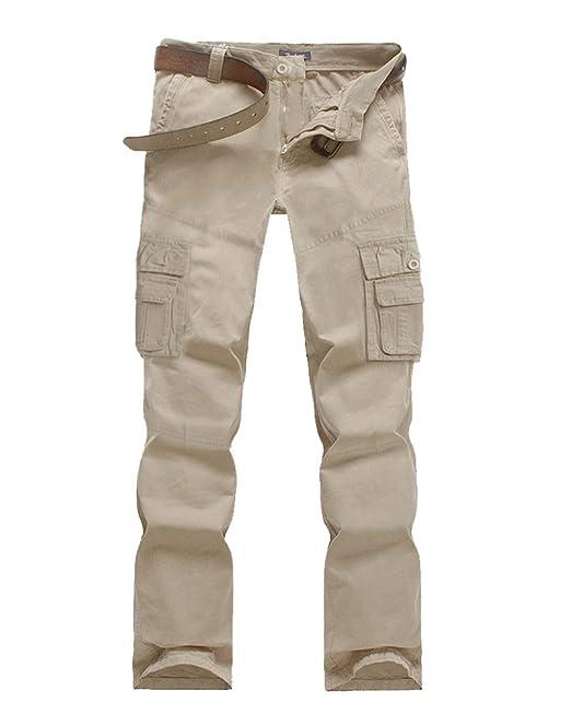 prezzo interessante a prezzi ragionevoli miglior valore Quge Uomo Pantaloni Lavoro Multitasche Cargo Militari Trousers con ...