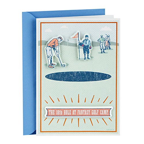 Hallmark Shoebox Funny Father's Day Greeting Card (Fantasy Golf Camp)