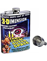Take 3d It Came From Outer Space Perfection In Style 8oz Stainless Steel Whiskey Flask with Free Funnel D-312 compare
