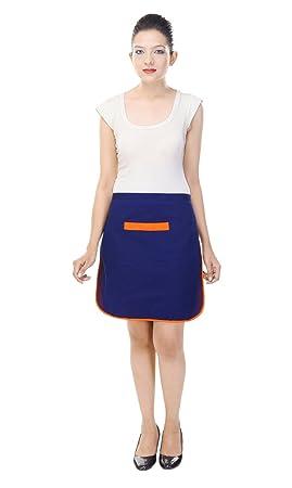 Switchon Women's Polyester Waterproof Korea Style Apron (Blue)