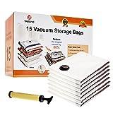 WELLAND 15 Vacuum Double-Zip Seal Space Saver Bags (15 PCS)