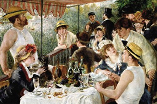 (Pierre Auguste Renoir Poster Adhesive Photo Wall-Print - The Luncheon of The Boating Party, 1880-1881 (71 x 47 inches))