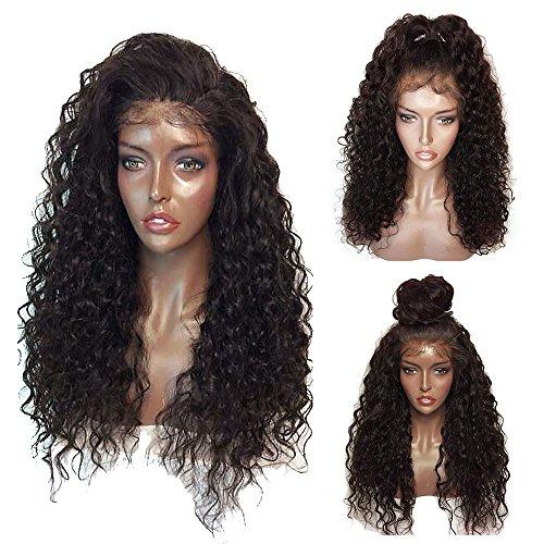 Lace Front Wigs For Black Women SKM NEW Fashion Women Long Curly Wigs Kinky Hair Heavy Density Black Wigs 26″[US Stock]
