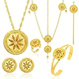 18K Gold Plated Ethiopian Hair Accessories Jewelry Sets Ethiopia Eritrean Women gift