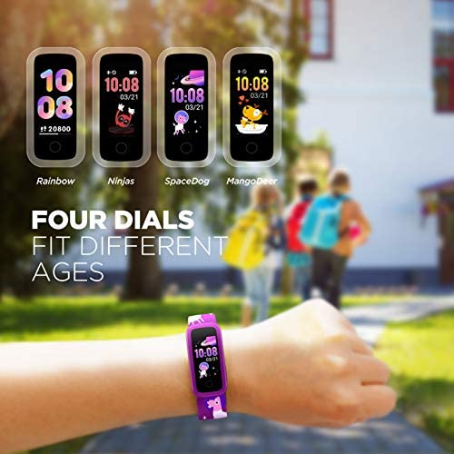 BIGGERFIVE Fitness Tracker Watch for Kids Girls Boys Teens, Activity Tracker, Pedometer, Heart Rate Sleep Monitor, Vibrating Alarm Clock, IP68 Waterproof Calorie Step Counter Watch 6
