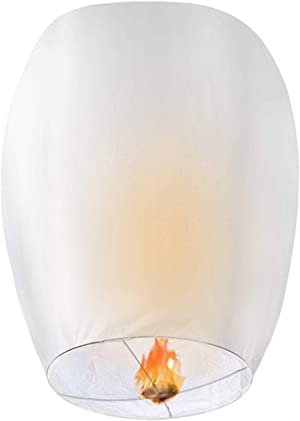CAMTOA 20 Pack Lanterns-100% Biodegradable,Eco-Friendly, Lanterns for Weddings,Celebrations, Memorial Ceremonies