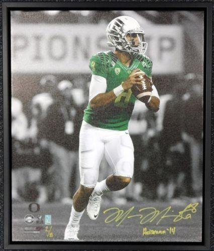 Marcus Mariota Autographed Signed Framed 20x24 Canvas Photo Oregon #/8 Mm 91861 Autographed College Art