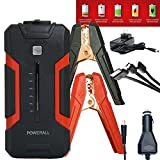 Powerall XL3 SUPREME 1000A Portable 16,000 mAh Lithium Car Jump Starter with Power Bank, LED Flashlight and Carrying Case + NEW TITAN CLAMPS and TUFF Carrying Case
