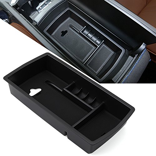 AndyGo Car Interior Armrest Central Console Storage Box Arm Rest Glove Tray Bin Container Holder For Peugeot 3008 GT 3008GT 2016 2017