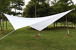 yahee 4x 4m Toldo protector solar jardín–Cuadrado viento, impermeable, protección UV, color blanco