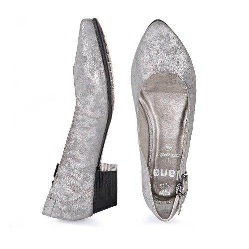 Jana 22203 Damen Pumps Silber (grigio / Argento 212)