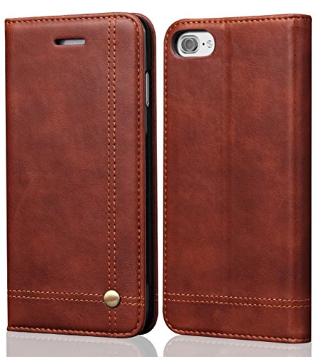 iPhone 8 Case iphone 7 Case, SINIANL Leather Wallet Case Magnetic Closure With Kikstand & Card Slot Flip Cover