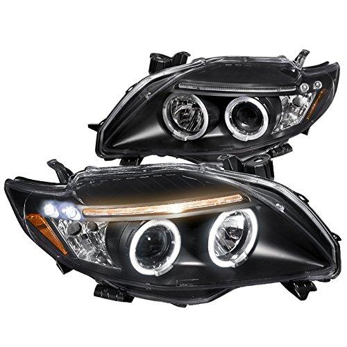 Spec-D Tuning 2LHP-COR09JM-TM Black Projector Headlight (Halo Housing) ()