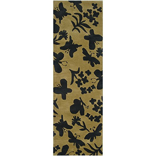 Surya Paule Marrot PMT-1001 Transitional Hand Tufted 100% New Zealand Wool Gold Green 2'6
