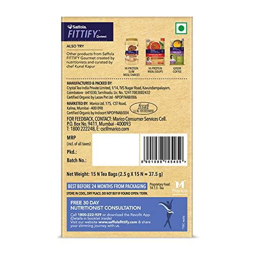 Saffola FITTIFY Superfood Moringa Green Tea- Helps Supports Immunity- 30 Tea Bags(Pack of 2) (Jasmine)