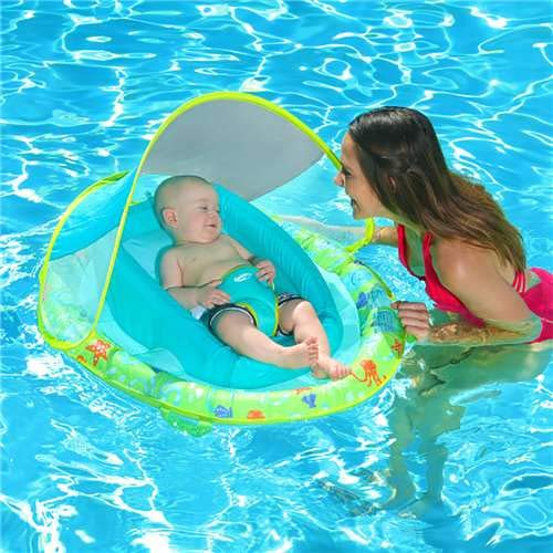 SwimWays Infant Baby Spring Float, Pink by SwimWays (Image #5)
