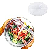 Silicone Stretch Lids, Insta Lids, Reusable Silicone lids, Replace Plastic wrap, Fit Round & Square Bowls, Jars, 6-Pack of Various Sizes, Superior for Keeping Food Fresh, Dishwasher and Freezer Safe