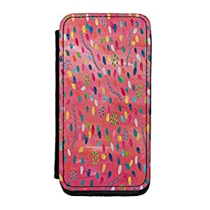 Diy iphone 5 5s case Abstract Pattern Painting 003 Premium Faux PU Case, Protective Hard Cover Flip Case for iPhone 5 5S by Helen Joynson