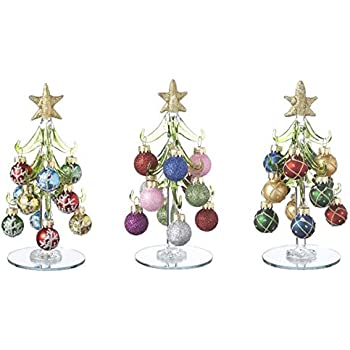 Amazoncom Ganz Blown Glass 6 Tall Christmas Trees with