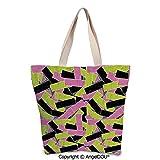 SCOXIXI Grunge Women's Canvas Shoulder Hand Bag Tote Bag Torn Paper Effect Vivi