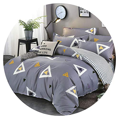 - Geometric 4pcs Girl Boy Kid Bed Cover Set Duvet Cover Adult Child Bed Sheets and Pillowcases Comforter Bedding Set 2TJ 61006,2TJ-61006-004,Pillowcase 2pcs