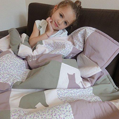 Couverture bébé personnalisable - thème doux Printemps