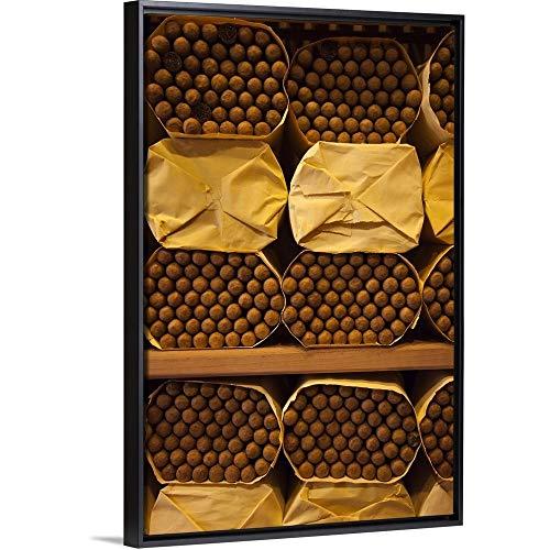 ing Frame Premium Canvas with Black Frame Wall Art Print Entitled Dominican Republic, Santo Domingo, Cohiba Cigars 16
