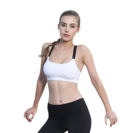 10f29d1421 Buy Women s Yoga Fitness Bra Norbi Running Shockproof Double Shoulder Strap  Sport Underwear Black Grey White Online at Low Prices in India - Amazon.in