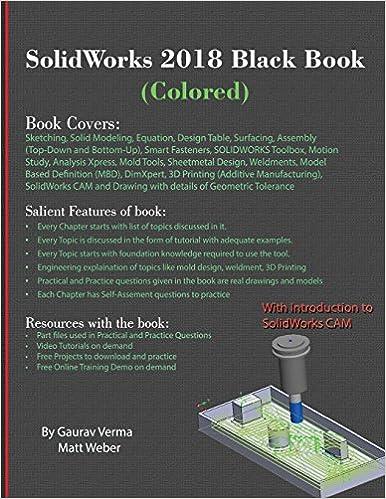 Book SolidWorks 2018 Black Book (Colored)