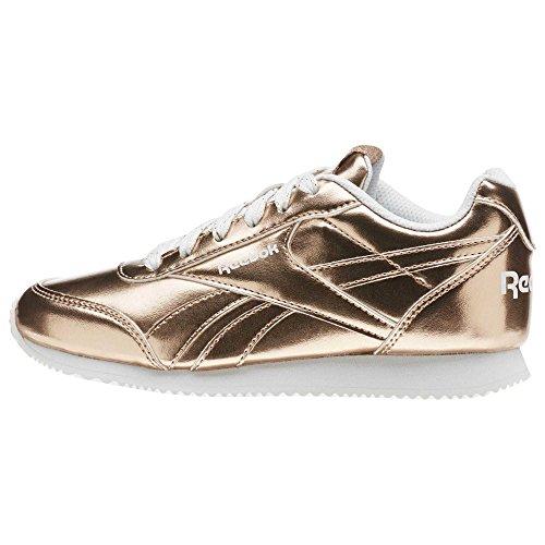 Reebok Reebok Royal CLJOG 2–�?, Mädchen Sneaker, Pink (Rose Gold Metallic/White)