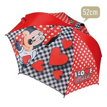 MINNIE MOUSE DISNEY Paraguas automático PREMIUM - Rojo/Negro 52 cm