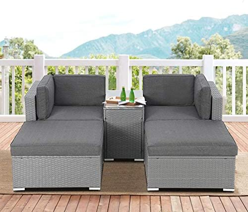 SOLAURA 5-Piece Outdoor Patio Furniture Set