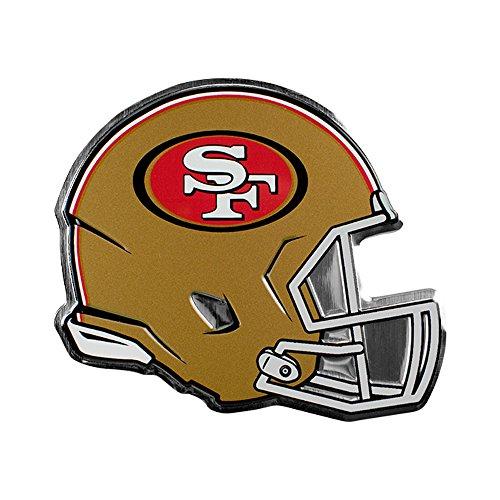 San Francisco 49ers NFL Sports Team Logo Car Truck SUV Motorcycle Trunk 3D Helmet Die-Cut Color Premium High Quality Aluminum - Premium San Francisco Outlet