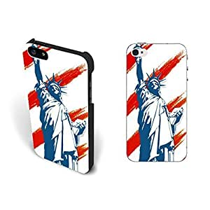 Cool American New York City Statue of Liberty Case For Sumsung Galaxy S4 I9500 Cover Fashion Red Stripes White Hard Plastic Case For Sumsung Galaxy S4 I9500 Cover Case Skin Personalized Protector