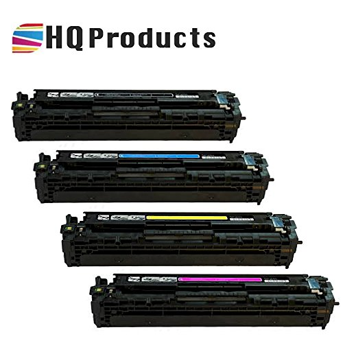 HQ Products Compatible Replacement for HP 125A Set (CB540A, CB541A, CB542A, CB543A) Bk, C, Y, M Toner Cartridge for use in HP Color LaserJet CP1210, CM1300, CP1510 Series Printers. (Series Cp1510)