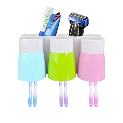 Merveilleux Toothbrush Holder STARVAST Bathroom Plastic Anti Dust Easily Wall Mounted Toothbrush  Storage Set With 3
