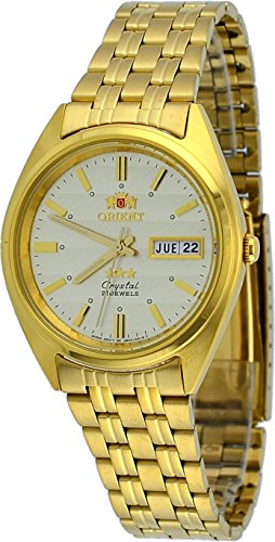 Orient #FAB00008C Men's 3 Star Standard Gold Tone Champagne Dial Automatic Watch