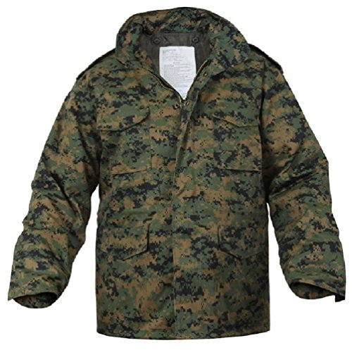 Field Camouflage M-65 Jacket - Bellawjace Clothing Woodland Digital Camouflage USMC Military M-65 Field Jacket Coat With Liner
