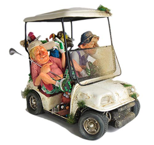Golf Cart Figurine The Buggy Buddies Comic Art Of Guillermo Forchino (15 1/4 Inch Long)